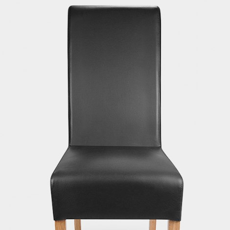 Krista Madras Leather Dining Chair Black Seat Image