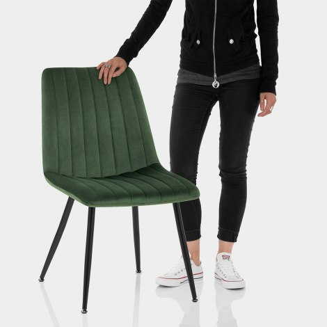 Lagos Dining Chair Green Velvet Features Image
