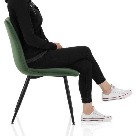 Lagos Dining Chair Green Velvet Frame Image