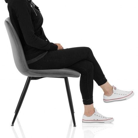 Lagos Dining Chair Grey Velvet Frame Image