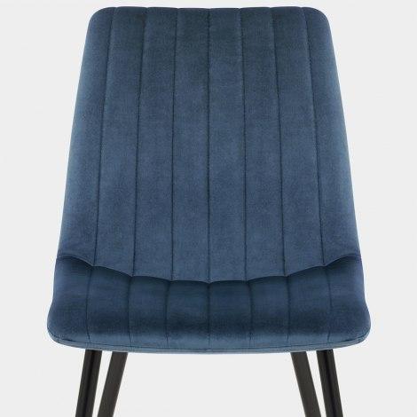 Lagos Dining Chair Blue Velvet Seat Image