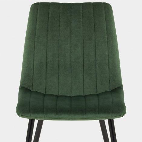 Lagos Dining Chair Green Velvet Seat Image