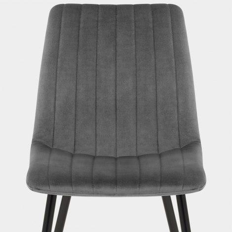 Lagos Dining Chair Grey Velvet Seat Image