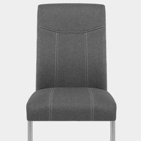Lancaster Dining Chair Grey Fabric Seat Image