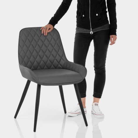 Lincoln Dining Chair Grey Features Image