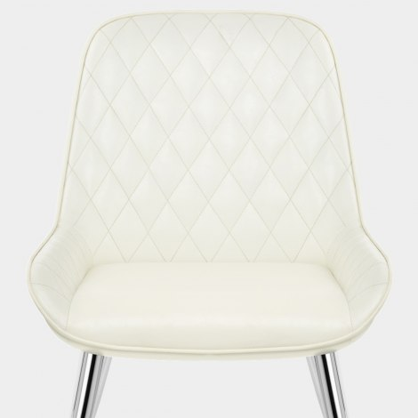 Lincoln Chrome Chair Antique Cream Seat Image