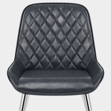 Lincoln Chrome Chair Antique Slate Seat Image