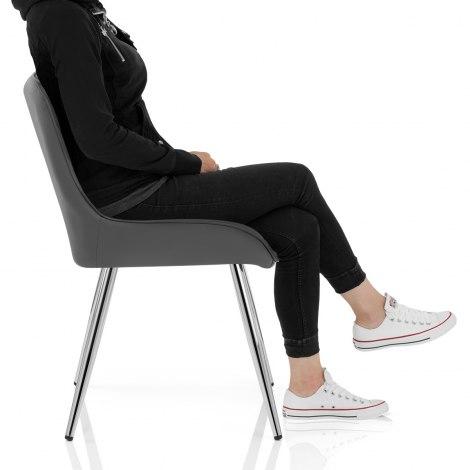 Lincoln Chrome Chair Grey Frame Image