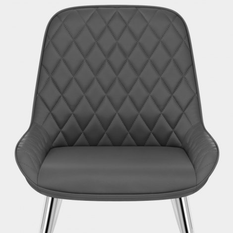 Lincoln Chrome Chair Grey Seat Image