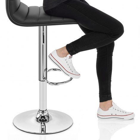 Linear Bar Stool Black Seat Image