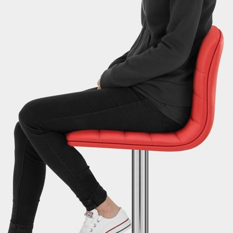 Linear Bar Stool Red Seat Image