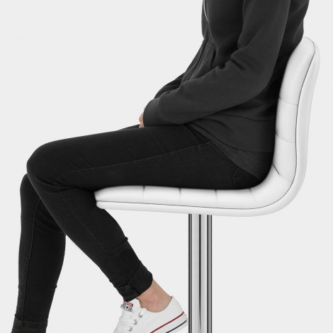 Linear Bar Stool White Seat Image
