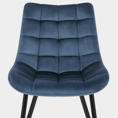 Lisbon Dining Chair Blue Velvet Seat Image