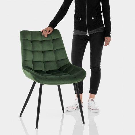 Lisbon Dining Chair Green Velvet Features Image