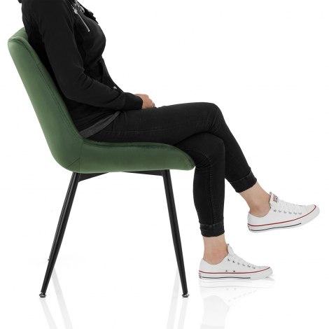 Lisbon Dining Chair Green Velvet Frame Image
