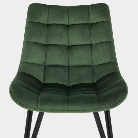 Lisbon Dining Chair Green Velvet Seat Image