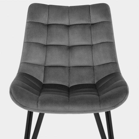 Lisbon Dining Chair Grey Velvet Seat Image