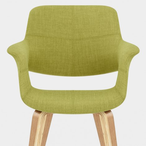 Lloyd Dining Chair Oak & Green Seat Image