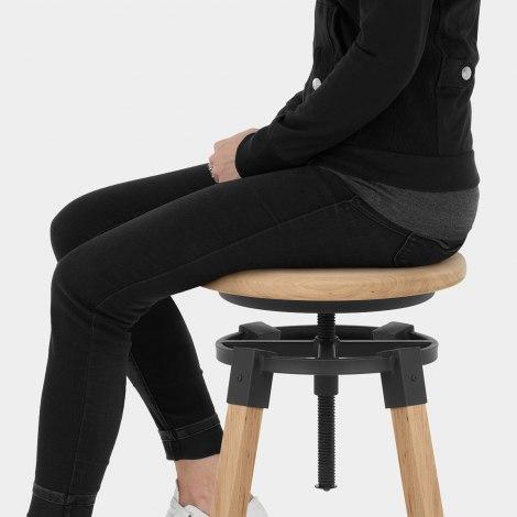 Logan Wooden Bar Stool Seat Image