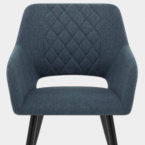 Lopez Dining Chair Blue Fabric Seat Image
