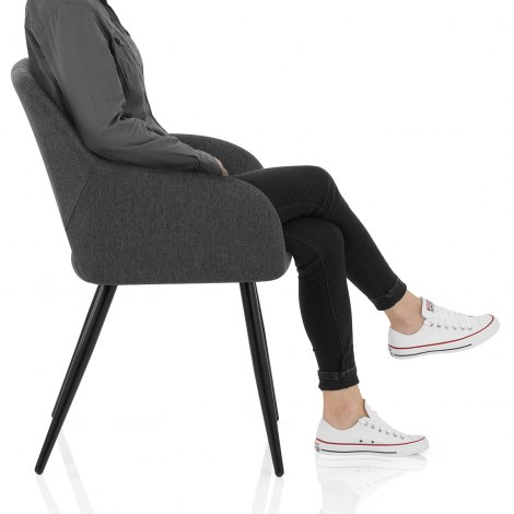 Lopez Dining Chair Charcoal Fabric Frame Image