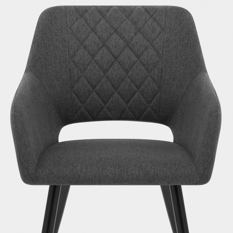 Lopez Dining Chair Charcoal Fabric Seat Image