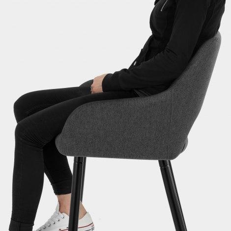Lopez Bar Stool Charcoal Fabric Seat Image