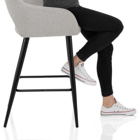 Lopez Bar Stool Grey Fabric Seat Image