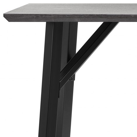 Lucas Dining Table Grey Wood Frame Image