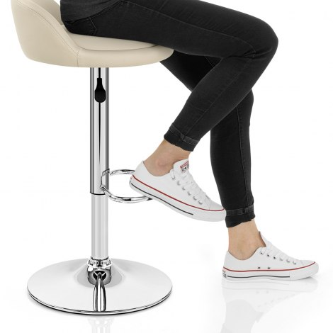 Lulu Bar Stool Cream Seat Image