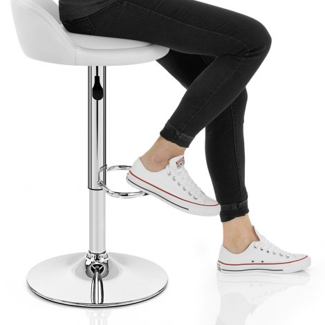 Lulu Bar Stool White Seat Image