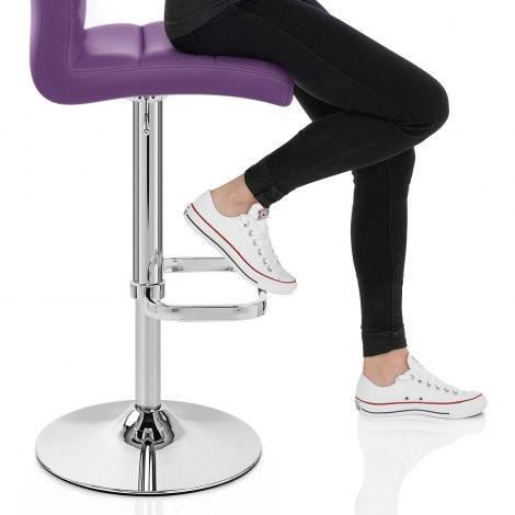 Lush Chrome Stool Purple Seat Image