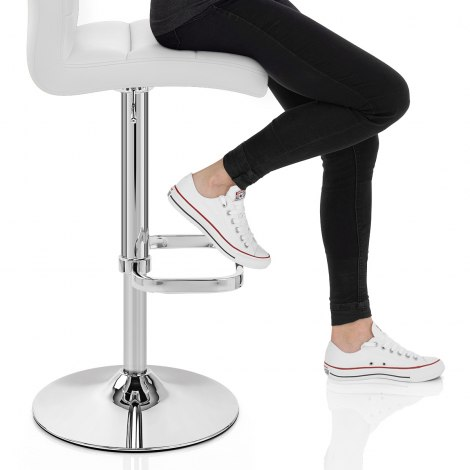 Lush Chrome Stool White Seat Image
