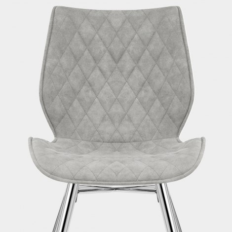 Lux Dining Chair Antique Grey Seat Image