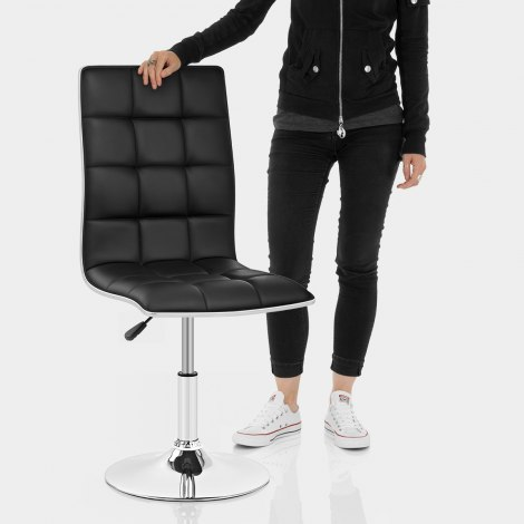 Macy Stool Chair Black Features Image