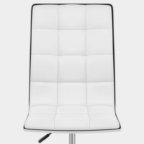 Macy Stool Chair White Seat Image