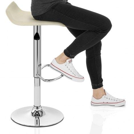 Mars Cream Bar Stool Seat Image