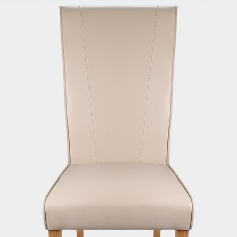 Marseille Madras Leather Dining Chair Cream Seat Image