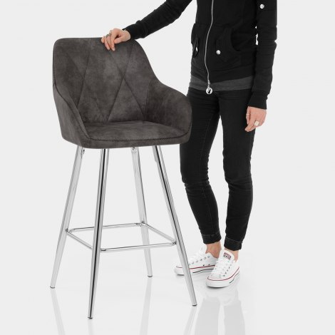 Mason Bar Stool Charcoal Features Image