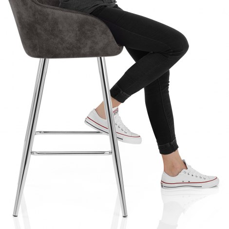 Mason Bar Stool Charcoal Frame Image