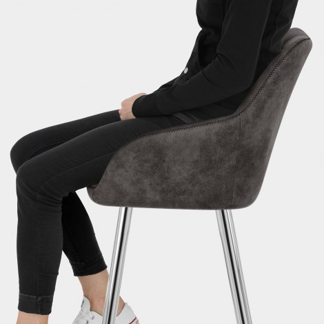 Mason Bar Stool Charcoal Seat Image