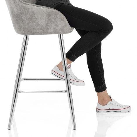Mason Bar Stool Light Grey Seat Image