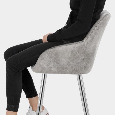 Mason Bar Stool Light Grey Seat Image