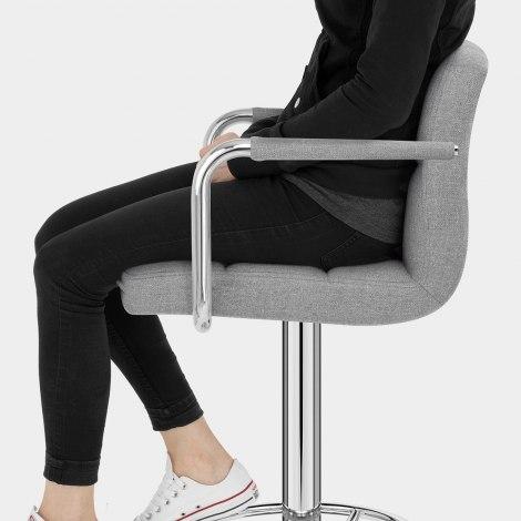 Maze Bar Stool Grey Fabric Seat Image