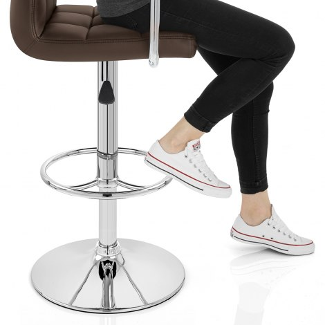Maze Bar Stool Brown Seat Image