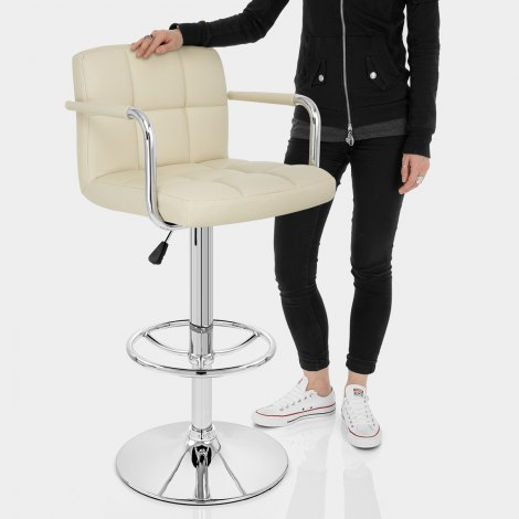 Maze Bar Stool Cream Features Image