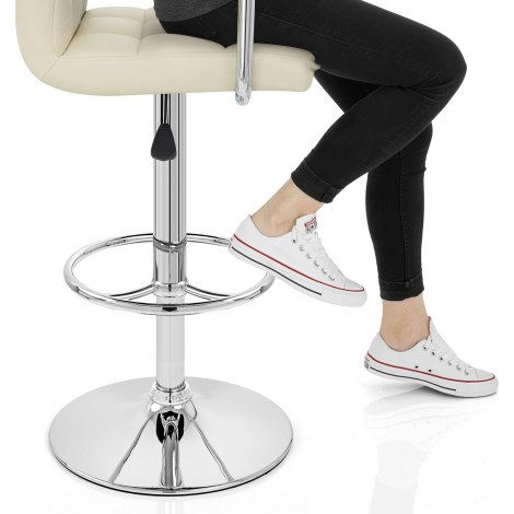 Maze Bar Stool Cream Seat Image
