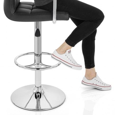 Maze Bar Stool Black Seat Image