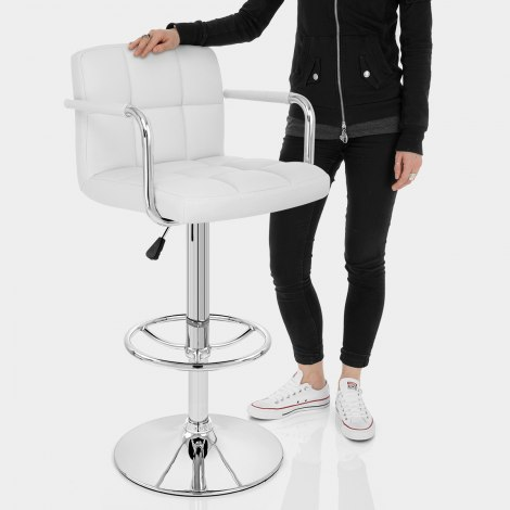 Maze Bar Stool White Features Image