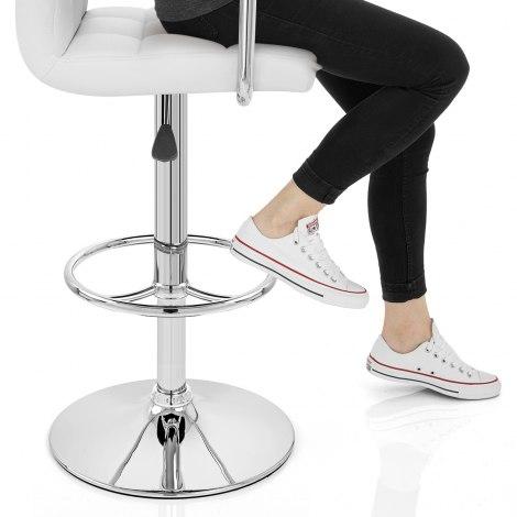 Maze Bar Stool White Seat Image